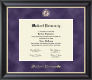 Waldorf University Diploma Frame - Regal Edition Diploma Frame in Noir