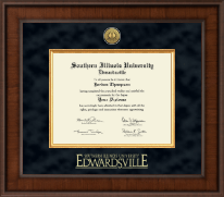 Southern Illinois University at Edwardsville Diploma Frame - Presidential Gold Engraved Diploma Frame in Madison