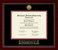 Southern Illinois University at Edwardsville Diploma Frame - Gold Engraved Medallion Diploma Frame in Sutton