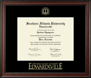Southern Illinois University at Edwardsville Diploma Frame - Gold Embossed Diploma Frame in Studio