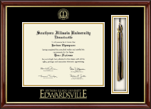 Southern Illinois University at Edwardsville Diploma Frame - Tassel Edition Diploma Frame in Southport Gold