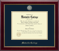 Medaille College Diploma Frame - Masterpiece Medallion Diploma Frame in Gallery