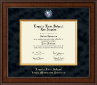 Loyola Law School Los Angeles Diploma Frame - Presidential Masterpiece Diploma Frame in Madison