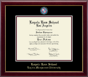 Loyola Law School Los Angeles Diploma Frame - Masterpiece Medallion Diploma Frame in Gallery