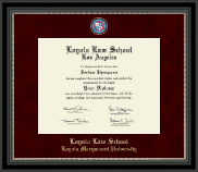 Loyola Law School Los Angeles Diploma Frame - Regal Edition Diploma Frame in Noir