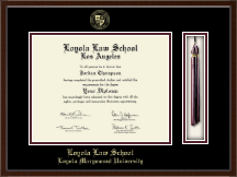 Loyola Law School Los Angeles Diploma Frame - Tassel Edition Diploma Frame in Delta