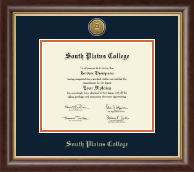 South Plains College Diploma Frame - Gold Engraved Medallion Diploma Frame in Hampshire