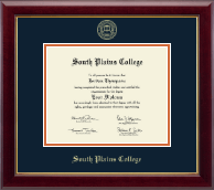 South Plains College Diploma Frame - Gold Embossed Diploma Frame in Gallery