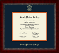 South Plains College Diploma Frame - Gold Embossed Diploma Frame in Sutton