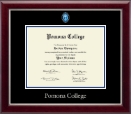 Pomona College Diploma Frame - Masterpiece Medallion Diploma Frame in Gallery Silver