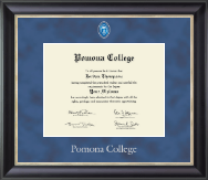 Pomona College Diploma Frame - Regal Edition Diploma Frame in Noir