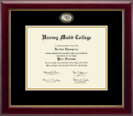 Harvey Mudd College Diploma Frame - Masterpiece Medallion Diploma Frame in Gallery