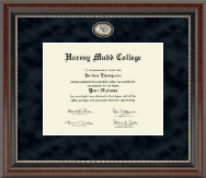 Harvey Mudd College Diploma Frame - Regal Edition Diploma Frame in Chateau