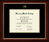 Harvey Mudd College Diploma Frame - Gold Embossed Diploma Frame in Murano