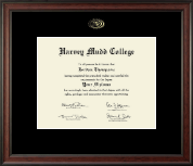 Harvey Mudd College Diploma Frame - Gold Embossed Diploma Frame in Studio