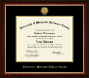 University of Maryland, Baltimore County Diploma Frame - Gold Engraved Medallion Diploma Frame in Murano