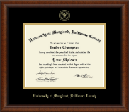 University of Maryland, Baltimore County Diploma Frame - Gold Embossed Diploma Frame in Austin