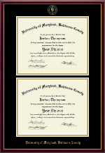 University of Maryland, Baltimore County Diploma Frame - Double Diploma Frame in Galleria