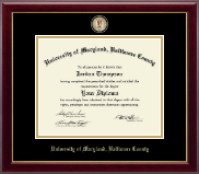 University of Maryland, Baltimore County Diploma Frame - Masterpiece Medallion Diploma Frame in Gallery