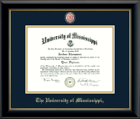 The University of Mississippi Diploma Frame - Masterpiece Medallion Diploma Frame in Onyx Gold