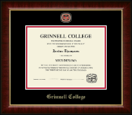 Grinnell College Diploma Frame - Masterpiece Medallion Diploma Frame in Murano