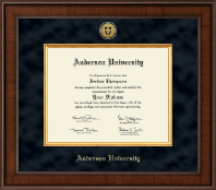 Anderson University in South Carolina Diploma Frame - Presidential Gold Engraved Diploma Frame in Madison