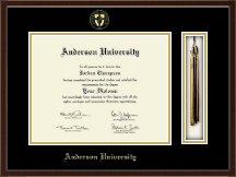Anderson University in South Carolina Diploma Frame - Tassel Edition Diploma Frame in Omega