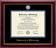 University of Pittsburgh at Bradford Diploma Frame - Masterpiece Medallion Diploma Frame in Gallery