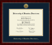 University of Houston Downtown Diploma Frame - Gold Engraved Medallion Diploma Frame in Sutton