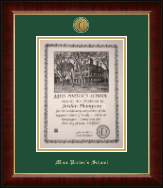 Miss Porter's School Diploma Frame - Gold Engraved Medallion Diploma Frame in Murano