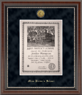 Miss Porter's School Diploma Frame - Gold Engraved Medallion Diploma Frame in Chateau