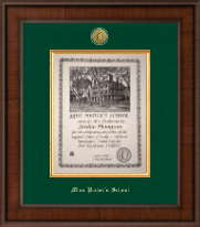 Miss Porter's School Diploma Frame - Presidential Gold Engraved Diploma Frame in Madison