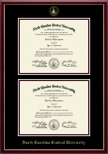 North Carolina Central University Diploma Frame - Double Diploma Frame in Galleria