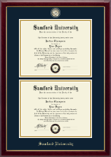 Samford University Diploma Frame - Masterpiece Medallion Double Diploma Frame in Gallery