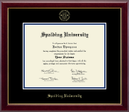 Spalding University Diploma Frame - Gold Embossed Diploma Frame in Gallery
