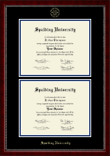 Spalding University Diploma Frame - Double Diploma Frame in Sutton