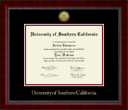 University of Southern California Diploma Frame - Gold Engraved Medallion Diploma Frame in Sutton