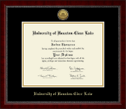 University of Houston-Clear Lake Diploma Frame - Gold Engraved Medallion Diploma Frame in Sutton