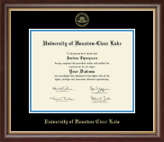 University of Houston-Clear Lake Diploma Frame - Gold Embossed Diploma Frame in Prescott
