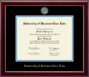 University of Houston-Clear Lake Diploma Frame - Masterpiece Medallion Diploma Frame in Gallery