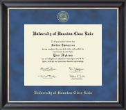 University of Houston-Clear Lake Diploma Frame - Regal Edition Diploma Frame in Noir