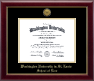 Washington University in St. Louis Diploma Frame - Gold Engraved Medallion Diploma Frame in Gallery