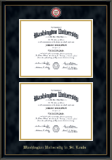 Double Diploma Masterpiece Medallion Frame