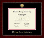 William Carey University Diploma Frame - Gold Engraved Medallion Diploma Frame in Sutton