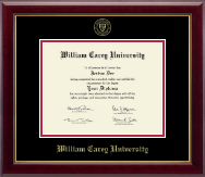 William Carey University Diploma Frame - Gold Embossed Diploma Frame in Gallery