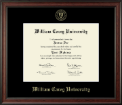 William Carey University Diploma Frame - Gold Embossed Diploma Frame in Studio