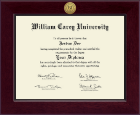 William Carey University Diploma Frame - Century Gold Engraved Diploma Frame in Cordova