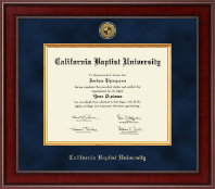 California Baptist University Diploma Frame - Presidential Gold Engraved Diploma Frame in Jefferson