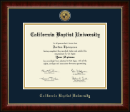 California Baptist University Diploma Frame - Gold Engraved Medallion Diploma Frame in Murano