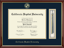 California Baptist University Diploma Frame - Tassel Edition Diploma Frame in Southport Gold